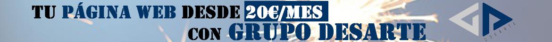 tu web desde 20 euros al mes con Grupo Desarte
