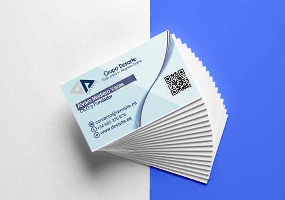 Diseño gráfico de tarjetas de visita