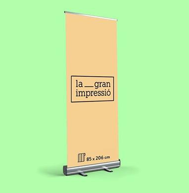 Diseño gráfico de cartel enrollable para imprenta digital