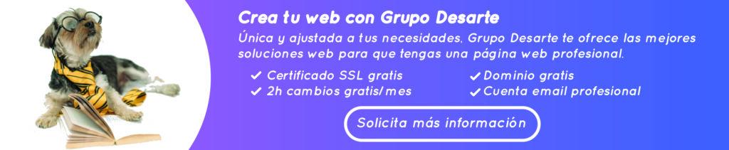 Crea tu página web con Grupo Desarte