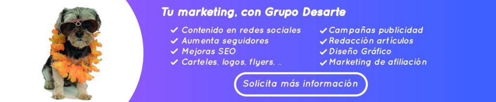 marketing para tu sitio web con Grupo Desarte