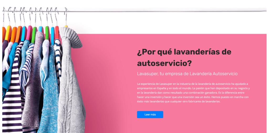 Micrositio web creado para Lavasuper
