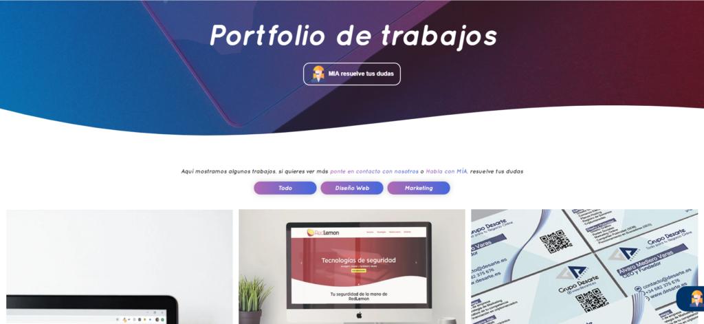 Portfolio web para mostrar tus trabajos